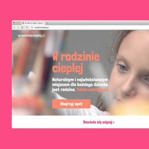 Strona internetowa kampanii W rodzinie cieplej 2015